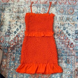 NWOT MILLY SML SILK RED DRESS